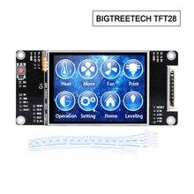 قطع غيار طابعة ثلاثية الأبعاد BIGTREETECH TFT28 شاشة تعمل باللمس reprap MKS 2.8 بوصة TFT لوحة تحكم reprap SKR MKS RAMPS board