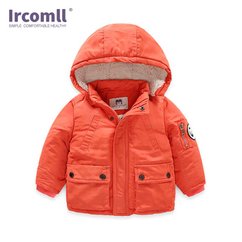 Ircomll High Quality Boys Winter Parkas Children Warm Thick Padded Cotton Jacket Coat Hooded 2-7 Year Boys Clothes