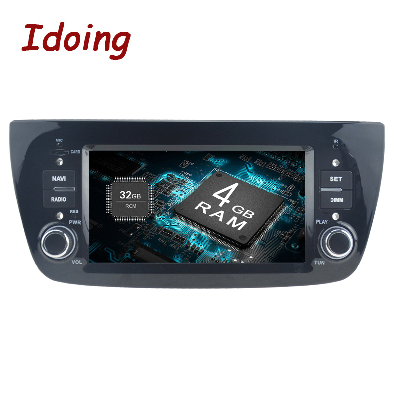 idoing 6 2 1din 4g 32g car radio gps android 8 0 for fiat. Black Bedroom Furniture Sets. Home Design Ideas