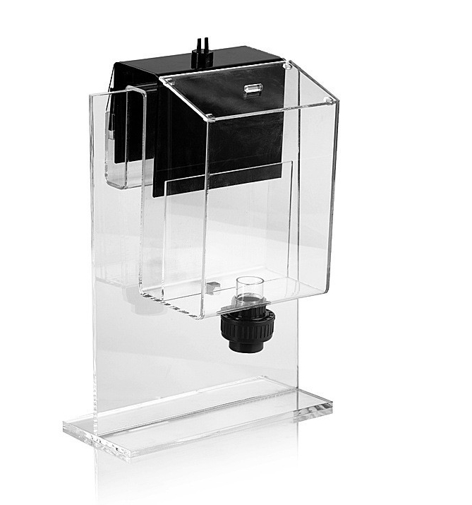 Marine source Siphon hang on overflow box non perforated bottom filter no need hole for fresh