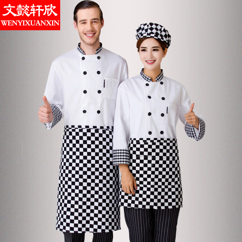 New Chef Jacket Long Sleeve Adult Kitchen Clothes Hotel Restaurant Chef Long Clothe Work Wear Chef Overalls Short Sleeves B-6272