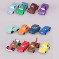 12Pcs/Lot 4CM Pixar Cars Action Figures Cartoon Collectible Model Toy Dolls Chirdrens New Pixar Cars Gift Plastic Mini Car Toys