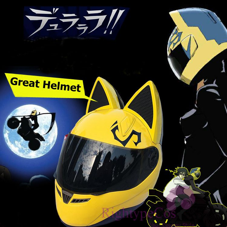 Halloween 1:1 Anime DuRaRaRa!! 3way Standoff Celty Celty Sturluson Motorcycle Riding Helmet Cosplay Mask Prop Gift