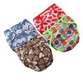 JinoBaby Cloth Diaper Cover Double Gussets One Size for Newborn to 15kgs (Pack of 4 PCS)
