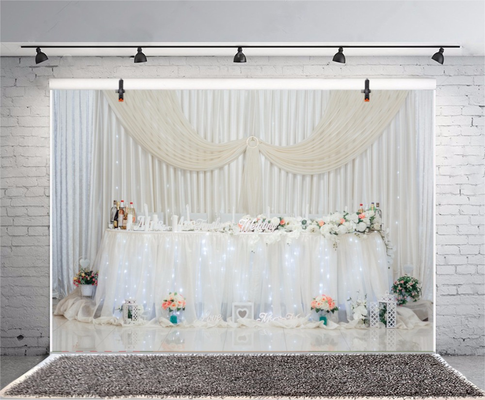 Laeacco Celebration Party Table Curtain Light Decor Interior Photo Backgrounds Customized Photography Backdrops For Photo Studio Consumer Electronics Photo Studio