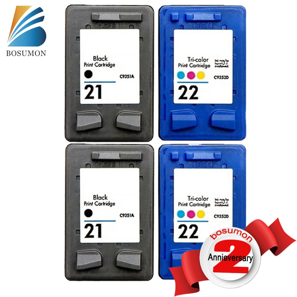 For HP 21 22 Ink Cartridges For HP21 22XL Combo pack C9351AN C9352AN HP DESKJET 3910/3920/3930/3940/D1311/D1320/D1330/D1341