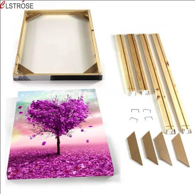 Clstrose Bricolage Mesure tendue En Bois Cadre Pour Toile Peinture
