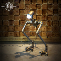 Robot Vintage Pipe Table Lamp For Bedroom LED Table Lamps For Bar Cafe Deco,Luminaria Abajur Lampara De Mesa