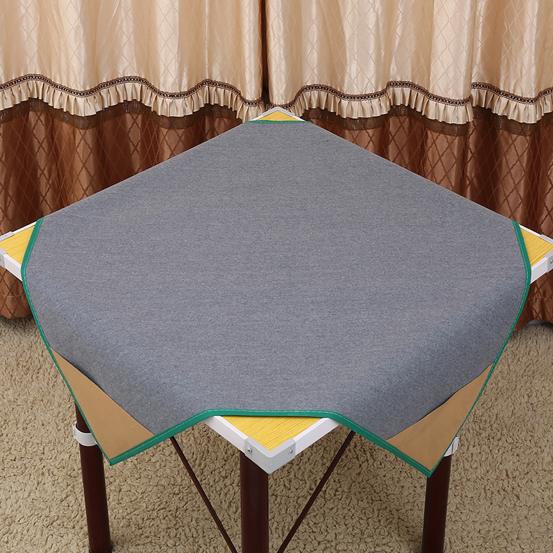 95cm X 95cm One side is flocking,non-slip.another side is PU leather,thick table cloth Party mahjong reduce the noise mat(China)