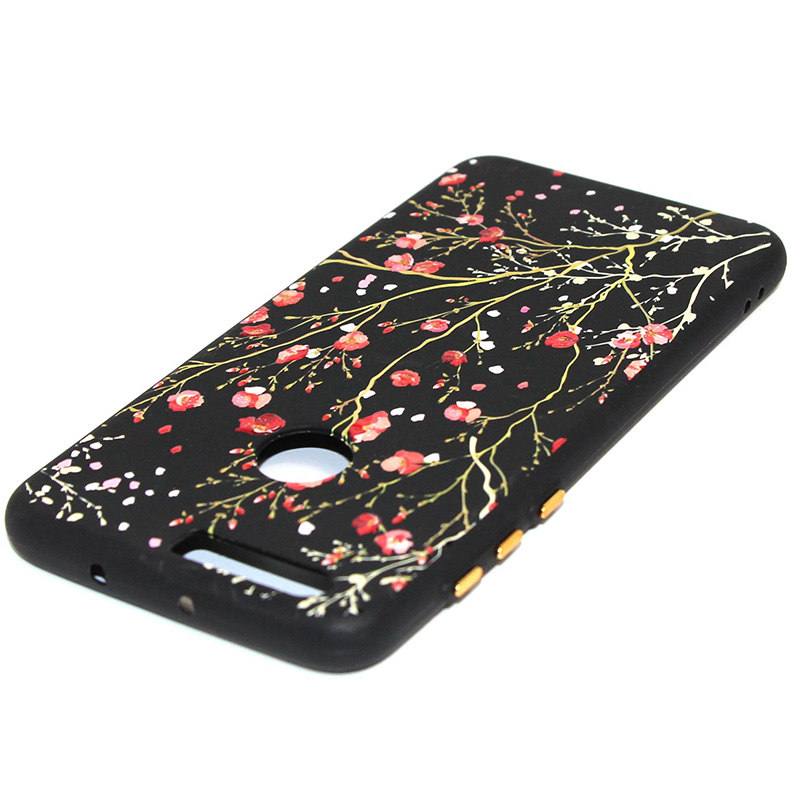 3D Relief flower silicone case huawei honor 8 (29)