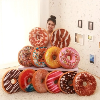 funny chocolates donut shaped pillow cushions and sofa seat decor toy cushions