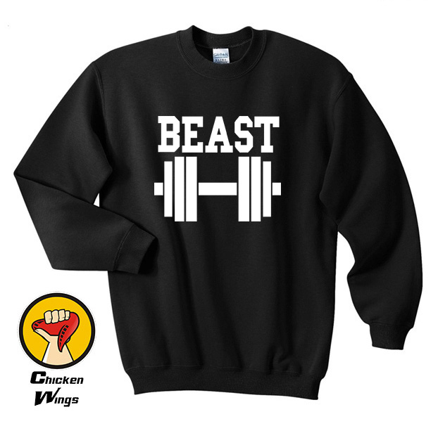 8a27cee2fb0f Beast dumbbell Couple Matching Shirt Love Funny Workout Lift Tumblr Top  Crewneck Sweatshirt Unisex More Colors XS - 2XL