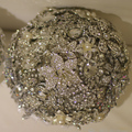 9-дюймовый пользовательские свадебный букет, Роскошная атмосфера брошь букет, свадебный букет драгоценных камней, Полный алмазов окружили ручка