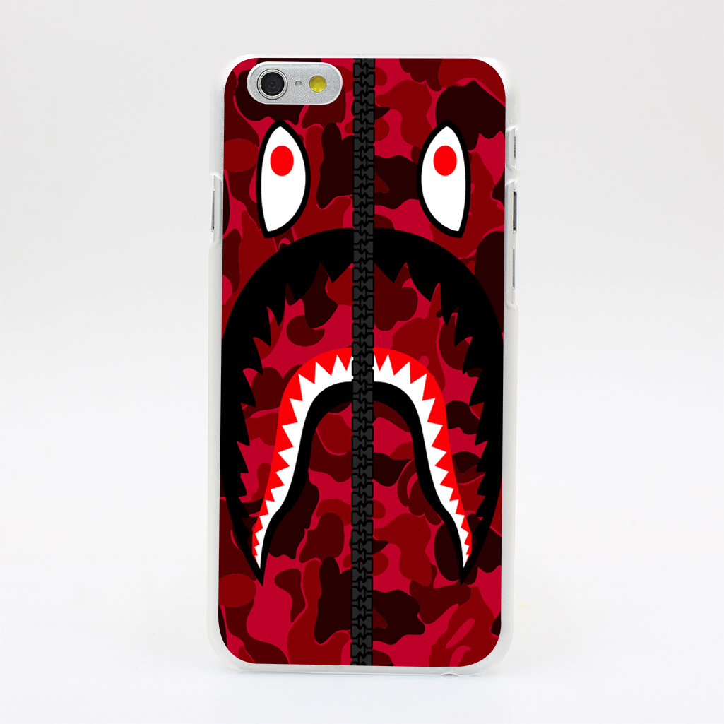 Préférence 1486U Tumblr Bape Red Hooded Sweatshirt Hard Case Cover for iPhone  CU63