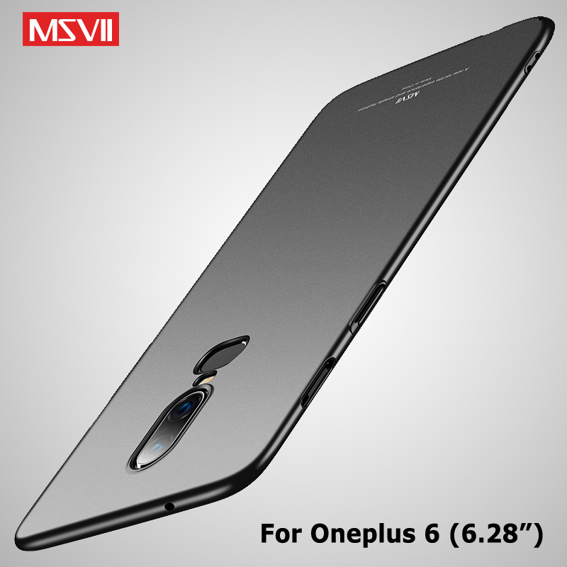 One Plus 6 T 6T Case Msvii Slim Frosted Coque For Oneplus 6 6T 5 5T Case Oneplus6 Hard PC Cover One Plus 5 T 5T OnePlus5 Cases