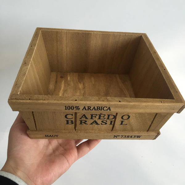 unidslote cuadrado dxhcm jardineras de madera cajas de madera flor de madera marrn