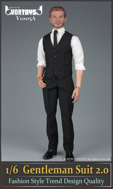"VORTOYS 1/6 Scale  Gentleman Suit 2.0 Fashion Style Male Clothes For 12"" Man Action Figure Body Model Toys Accessory"