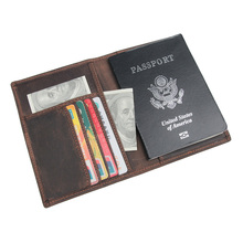 J.M.D Genuine Leather RFID Blocking Passport Holder Travel Wallet Cover Case with Card Holder R-8190 недорого