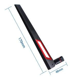 Image 3 - Dlenp 2 uds 2,4 Ghz 5Ghz 5,8 Ghz Antena de doble banda WIFI Router 12dBi con antena RP conector macho SMA (agujero)