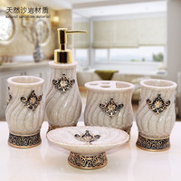 WSHYUFEI Natural resin production 5pcs / lot high quality home decoration gift bathroom accessories fast delivery Factory Outlet