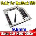 "Aluminum SATA 3.0 to Sata 2nd HDD Caddy SSD Case Enclosure Optibay for Apple Macbook Pro Air Unibody 13"" 15"" 17"" A1278 A1286"