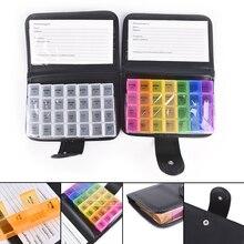 2 Colors 1set Travel Weekly 7 Days Pill Wallet Medicine Box Dispenser Tablet Holder Organiser 7 Day Pill Wallet