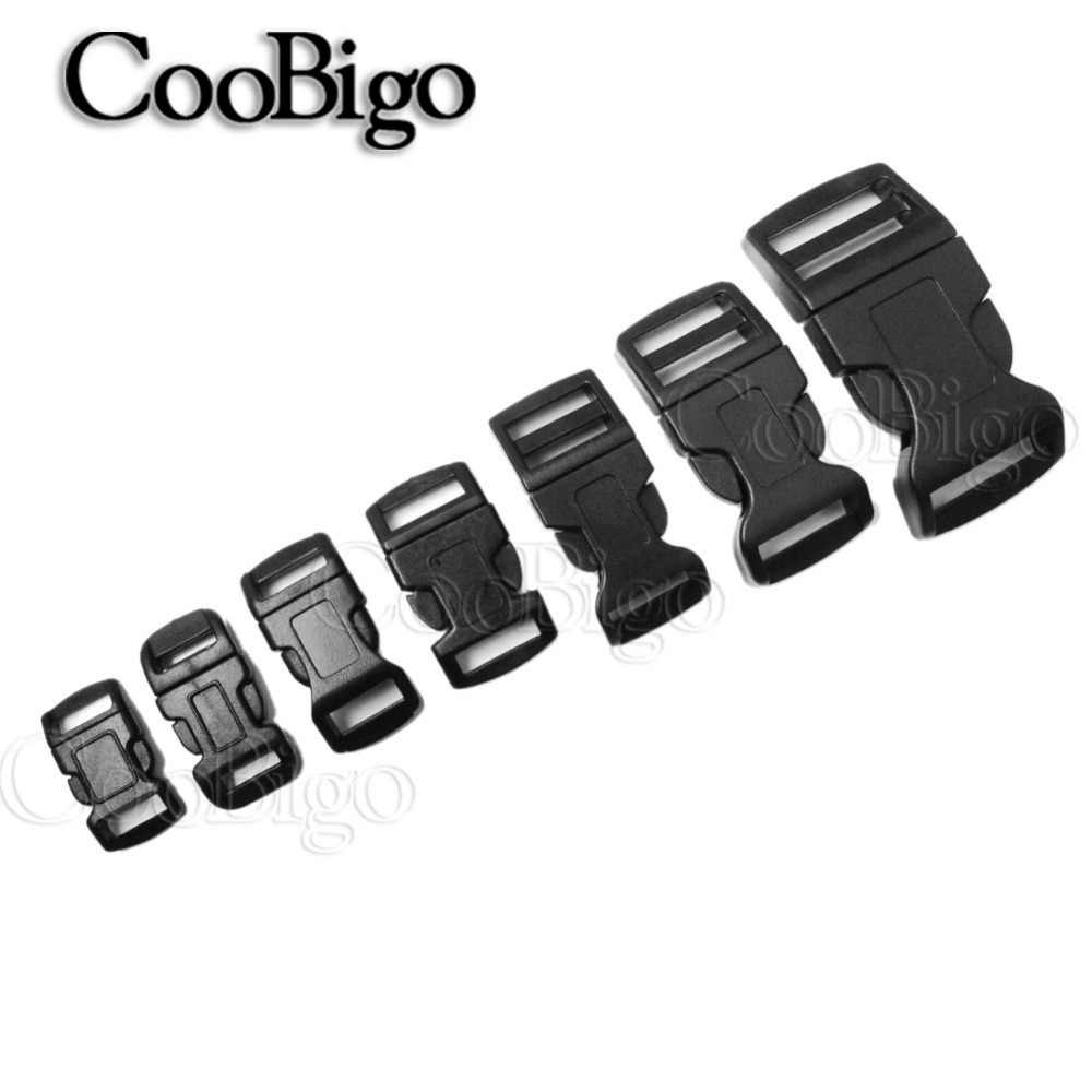 "5pcs 3/8"" 1/2"" 5/8"" 3/4"" 1"" Side Release Buckle Curved Plastic Hardware Dog Collar Paracord Bracelet Backpack Bag Parts"
