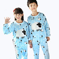 Winter Children Soft Fleece Pajamas Flannel Sleepwear Girls Loungewear Cute Sheep Coral Fleece Home Wears 2016 Winter Pyjamas