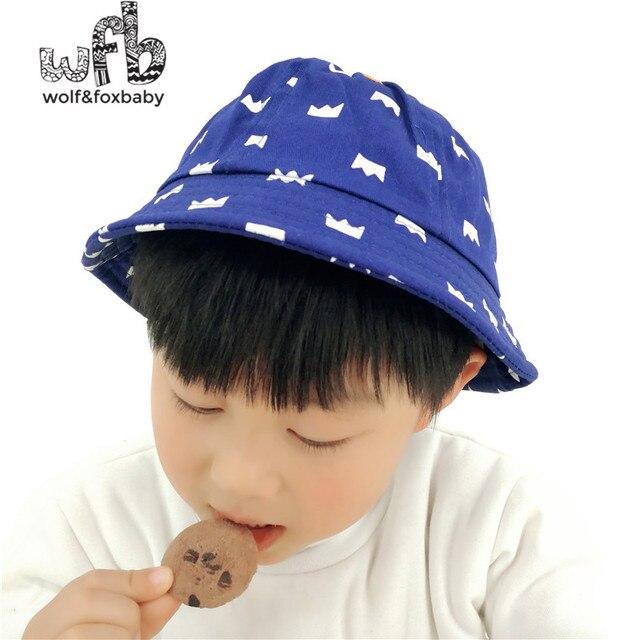 4c2df2216c1b80 Retail 50CM round sun cap printing Crown Cowboy hat baby children infant  kids spring fall autumn