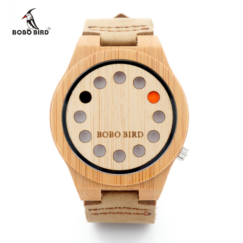 2017 New Design Brand Watch BOBO BIRD Mens Wood Watch Male Bamboo Wooden Quartz Watches for Men Relojes Mujer Montre Femme C-A04 bobo bird v a10 unique vogue womens bamboo wooden watch quartz outdoor sport watches with genuine leather strap montre femme