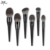 ANMOR 6Pcs Makeup Brushes Set Foundation Contour Powder Highlighter Make Up Brush Cleaner With Wood Handle Cosmetic Recommend