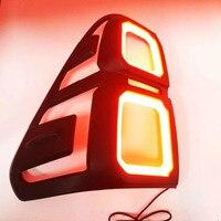 2 шт. аксессуары Новинка! Черный светодиодный для Toyota Hilux SR5 2015 2016 2017 2018 Light задняя крышка отделкой стайлинга автомобилей