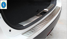 For Suzuki Sx4 S-cross 2017 2018 Stainless Steel New Style Rear Bumper (inner + outer) Door Sill Protector Plate Cover Trim