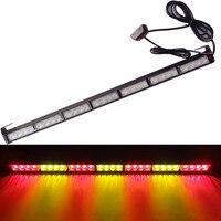 CYAN SOIL BAY 28 LED 31.5 Emergency Traffic Advisor Flash Strobe Light Warning Bar Red Amber