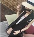 Embroidered Long Women Vests 2016 New High Quality Chaleco Women's Long Waistcoa Black Jacket Sleeveless Blazer