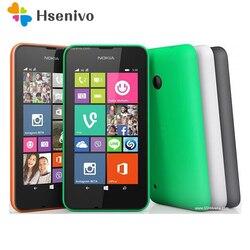 Оригинальный телефон Nokia Lumia 530, Windows 8,1, четырехъядерный процессор 4,0 дюйма, две SIM-карты, 4 Гб ПЗУ, камера 5 Мп, 3G WCDMA, Wi-Fi, GPS, Восстановленный