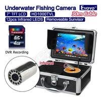 Free Shipping Eyoyo 30M 7 1000TVL Infrared Fishing Camera Fish Finder DVR Recording IR Night Vision