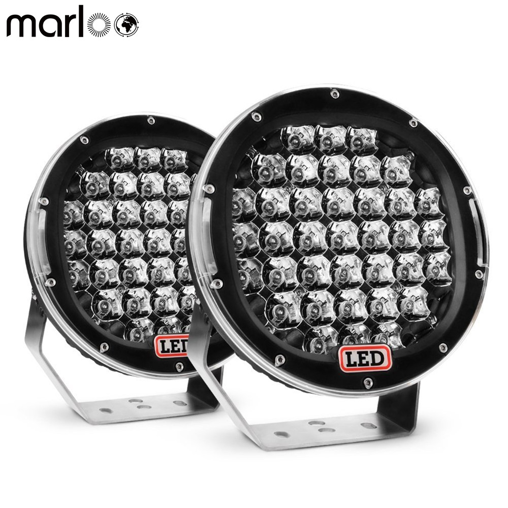 Marloo Pair 185W Round 9inch 4x4 Offroad Light 12V Led Driving Work Light For Truck Boat 4WD SUV ATV Car 12V 24V External Lights 7 inch 51w car round led work light 12v high power 17 x 3w spot for 4x4 offroad truck tractor atv suv jeep driving fog lights