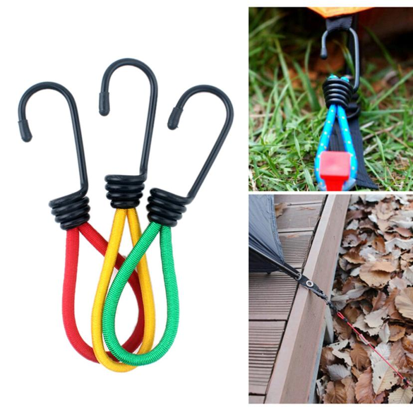 Multifunction High Elastic Outdoor Camping Essential Rope Tied Rope Hook For tents luggage Practical Durable nylon+rubber 15CM