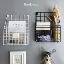 INS Style Magazine Newspaper storage basket Hanging Wall Mounted Periodical Book Document File Rack Shelf Organizer 1PC