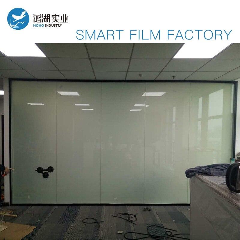 Personnaliser 150 cm x 200 cm Intelligent Pdlc film pour Fenêtre en verre décoration Commutable smart film Magique fenêtre de la vie privée film blanc