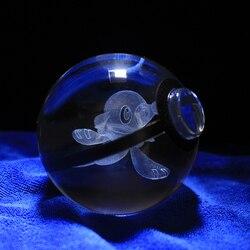 Popplio Design Crystal Poke Ball 3D Pokemon Figures Kid's Birthday Christmas Gifts