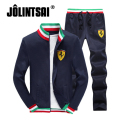 Jolintsai Autumn Sportwear 2017 Casual Suit Men Plus Size 4XL Tracksuit Men Stand-collar Hoodies Sweatershirts+Sweatpants Sets
