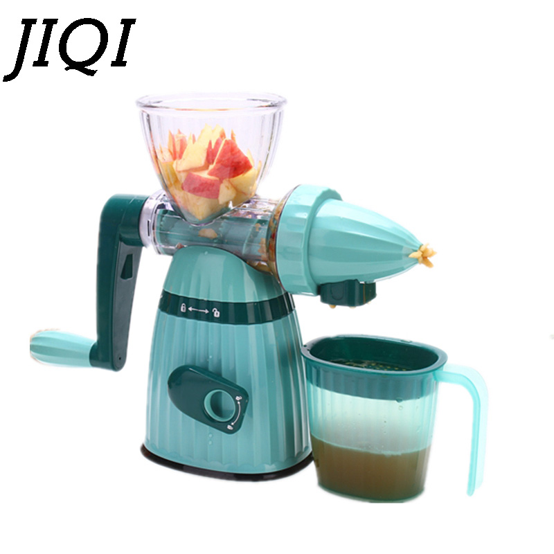 JIQI Mini Hand Juicer Multifunction DIY Manual Fruit Wheat Grass Vegetable orange juice press extractor wheatgrass Slow squeezer home use hand wheat grass juicer extractor cucumber tomato potato juice squeezer