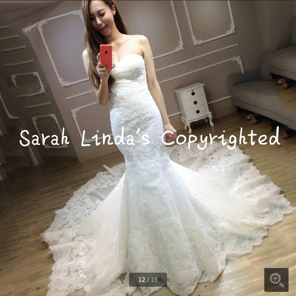 Wedding Selling Wedding Dress compare prices on selling wedding gowns online shoppingbuy low best mermaid lace appliques white dress chapel train real picture formal bride best