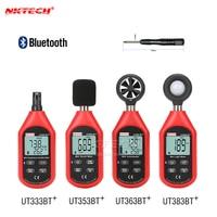 NKTECH UT333BT UT353BT UT363BT UT383BT PLUS Bluetooth Digital Humidity Meter Anemometer LUX Light Meter Luxmeter LCD Sound Meter