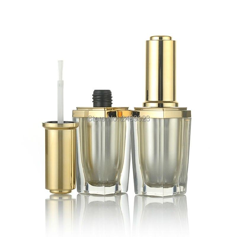Hot 10ml Acrylic Refillable Women Nail Polish Empty Bottles Makeup Tools for Beauty 100PCS/LOT Wholesale