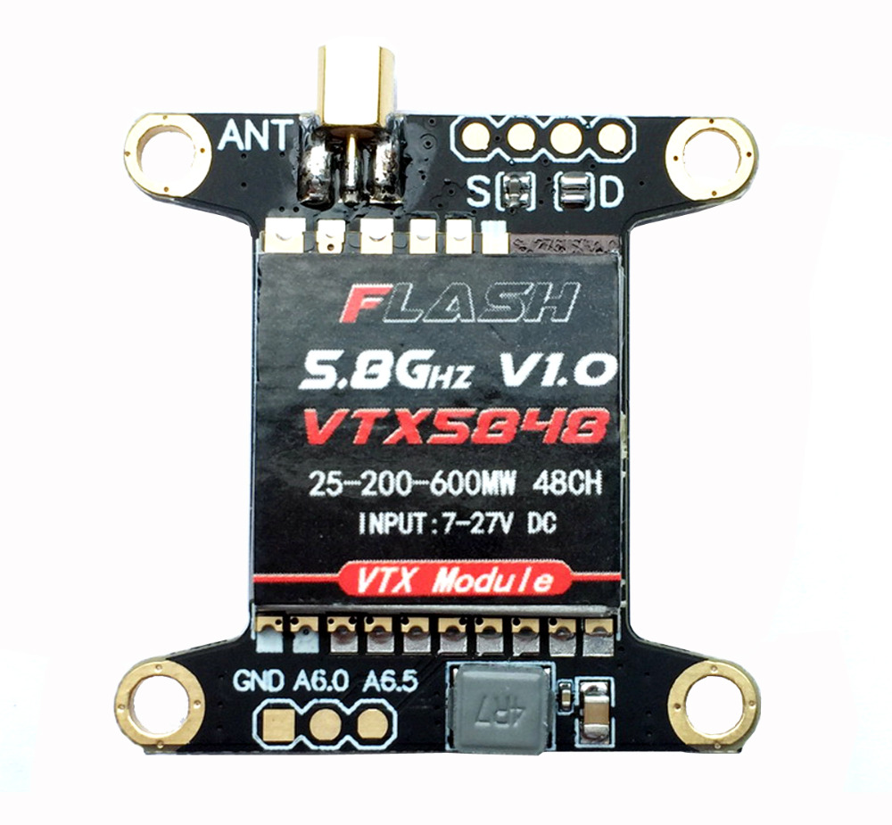 HOBBYMATE 5.8G FPV Video Transmitter VTX 48CH 25mW 200mW 500mW Switchable Raceband - for FPV Racing Drone Quadcopter, support PP цена 2017