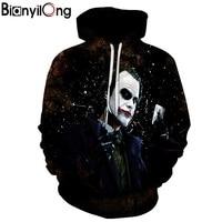BIANYILONG Brands 3d Sweatshirts Hooded Men Women Hoodies With Cap Joker Printing Autumn Winter Loose Thin