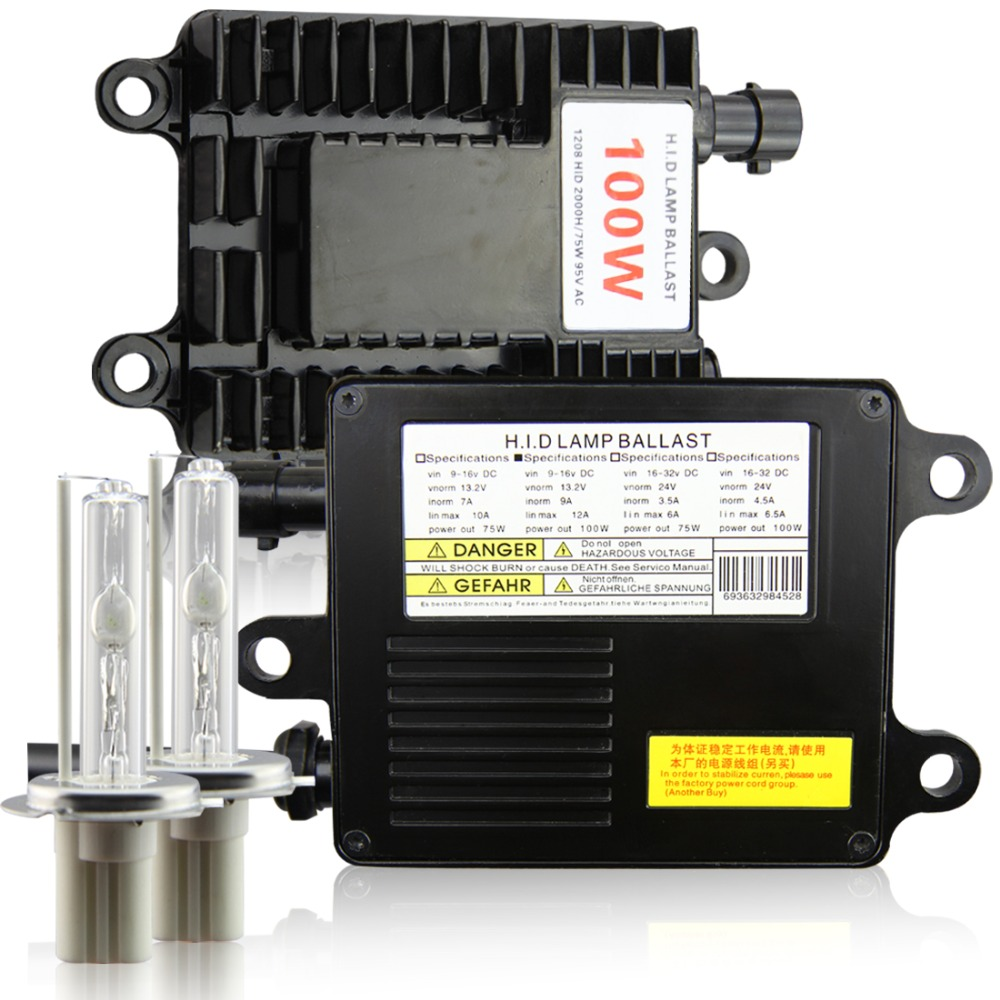 100W xenon hid kit AC h7 H4 h1 H11 9006 HB3 9006 HB4 4300K 5000K 6000K